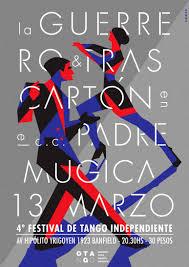 poster para el 4 festival de tango independiente buenos