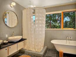 l shaped shower curtain rod bathroom modern with ceiling lighting corner shower image by fivedot design build