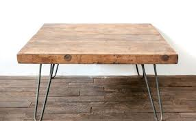 wooden coffee table hairpin legs white shanty