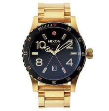 mens nixon watches new nixon men s diplomat ss watch gold black a277 513