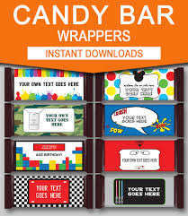 chocolate bar wrappers diy candy bar wrapper templates party favors chocolate bar labels