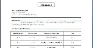 Resume Format For Mca – Mycola.info