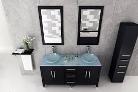 Glass Sink Bathroom Avola 59 Inch Double Glass Vessel Sinks Bathroom Vanity Glass Top