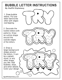 Bubble Letter Designs Graffiti For Beginners Bubble Letters Learn To Draw Graffiti