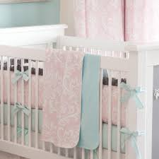 ritzy baby crib bedding girl baby bedding in pink and mist carousel designs