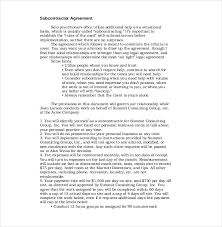 Subcontractor Agreement Format 13 Subcontractor Agreement Templates Word Pdf Pages Free