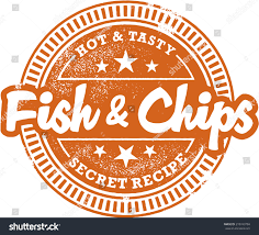 Fish And Chips Design Fish Chips Menu Design Stamp Stock Vector Royalty Free