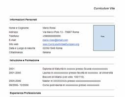 Bunch Ideas Of Curriculum Vitae Pdf Formato Europeo Marvelous