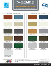 Steel Roof Color Chart Metal Roofing Colors Fabulous Metal Roofing Color Guide