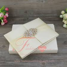 Wedding Invitation Folder Top Quality Customized Royal Style Luxury Silk Material
