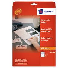 Avery L4789 10 Fold Clip Name Badge White 60x90mm 30