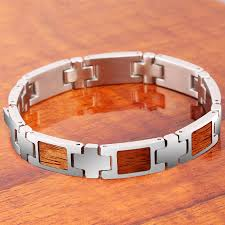 hawaiian jewelry koa wood inlaid snless steel bracelet mens wear makani hawaii hawaiian heirloom jewelry wholer and manufacturer