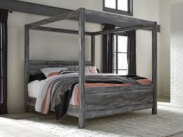 The Baystorm Gray King Canopy Bed available at Affordable Furniture ...