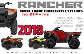 2018 suzuki atv rumors. unique 2018 2018 honda trx420 rancher atv models explained  comparison review of specs  u0026 differences on suzuki atv rumors h