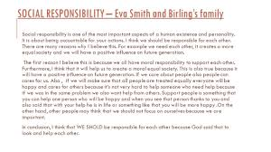 an inspector calls by lavinia cristina fenciuc social social responsibility eva smith and birling s family social responsibility is one of the most important