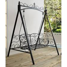 metal outdoor porch swing and stand hayneedle