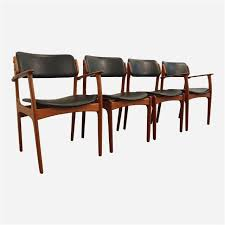 set of 4 dining chairs beautiful erik buch for o d mobler teak dining chairs set of
