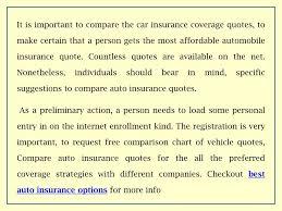 Car Insurance Comparison Chart Ppt Effective Car Insurance Quote Comparison Powerpoint
