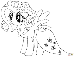 Small Picture My Little Pony Fluttershy coloring page Free Printable Coloring
