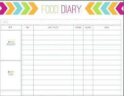 Food Journal Template Free Awesome Printable Food Diary For Women Free Diet Journal Template Log Strand