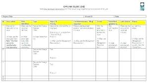 5 Project Management Issue Log Template Risk Excel Awesome