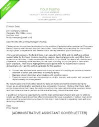 Admin Assistant Cover Letter 8 Contesting Wiki