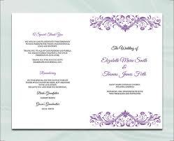 Wedding Booklet Template 17 Wedding Program Template Free Premium Templates