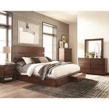 platform bed with nightstand. 4PC Artesia Queen Platform Bed With Storage Footboard Set Nightstand
