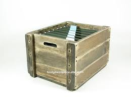 office file boxes. Wood File Crate Wooden Box Office Organizer Office File Boxes