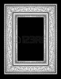 silver antique picture frames. Silver Antique Vintage Picture Frames. Isolated On Black Background Photo Frames
