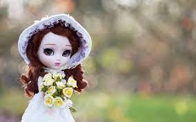 Cute Doll With Flower Hintergrundbilder ...