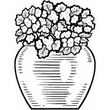 Small Picture Flower Pot Coloring Page