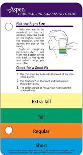 Collar Size Chart Aspen Cervical Collar