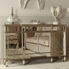 versailles gold venetian mirrored 3 drawer 4 door sideboard