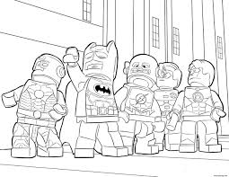 Coloriage Flash Lego Et Super Heros Batman Ironman Dessin