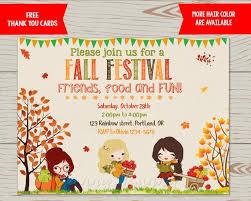 Fall Festival Invitation Fall Festival Flyer Harvest Party