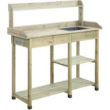 Potting Bench Convenience Concepts Planters And Potts Deluxe Potting Bench