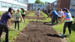 slideshow students get high school garden