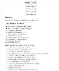Easy Resume Template Simple Resumes Samples Easy Resume Examples