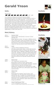 Chef Resume Cool Chef Resume Samples VisualCV Resume Samples Database