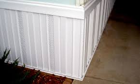 Image result for Picture of skirting of a mobile home