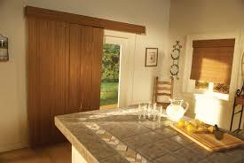 Wood Window Treatments Ideas Large Patio Door Window Treatments