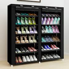 43.3-inch 7-layer 9-grid Non-woven fabrics large shoe rack