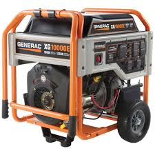 portable generators. Generac XG 10,000-Watt Gasoline Powered Electric Start Portable Generator Generators L