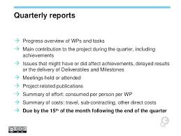 Quarterly Report Formats Sample Quarterly Report Template