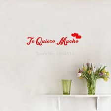16 11 De Réductioncitations Espagnoles Je Taime Tellement Autocollants Muraux Te Quiero Mucho Art Lettrage Vinyle Stickers Muraux Pour Salon