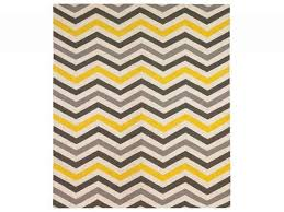 dwell yellow and gray chevron rug for living room might be fun to blue chevron