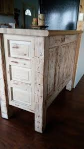 kitchen island we made from old wooden doors