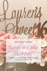 Diy Cake Topper With Cricut Creative Heart By Jen