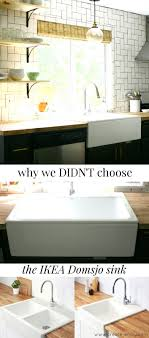 a lot of farm sinks don t have a back piece at all so they only work as undermounted which would be harder for us to install well with our diy cut